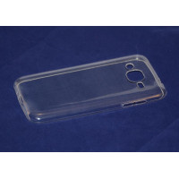 Чехол-бампер силиконовый для смартфона Samsung Galaxy J2 SM-J200F Цвет: прозрачный