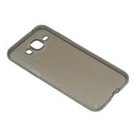 Чехол-бампер силиконовый для смартфона Samsung Galaxy J2 SM-J200F Цвет: серый