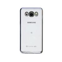 Ультратонкий Силиконовый (TPU) Чехол-накладка для смартфона Samsung Galaxy J5 2016 SM-J510F с серебряной окантовкой
