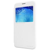 Чехол Nillkin SPARKLE FLIP WHITE для смартфона Samsung Galaxy J7 SM-J700F Цвет:белый