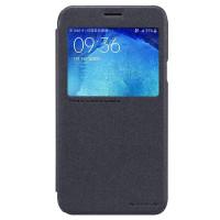 Чехол Nillkin SPARKLE FLIP GRAPHITE для смартфона Samsung Galaxy J7 SM-J700F Цвет:темно-серый графит