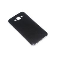 Чехол-бампер силиконовый с цветной вставкой для смартфона Samsung Galaxy J7 SM-J700F Цвет: черный