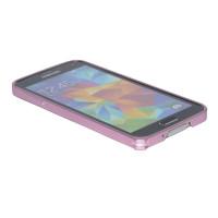 Бампер USAMS Arc edge Metal Frame Series для Samsung S5 (SM-G900) Цвет: розовый