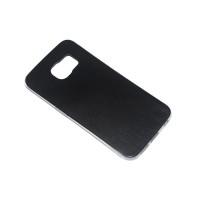 Чехол-бампер силиконовый с цветной вставкой для смартфона Samsung Galaxy S6 EDGE SM-G925F Цвет: черный