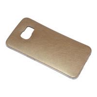 Чехол-бампер силиконовый с цветной вставкой для смартфона Samsung Galaxy S6 EDGE SM-G925F Цвет: золотой