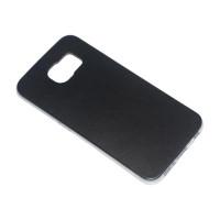 Чехол-бампер силиконовый с цветной вставкой для смартфона Samsung Galaxy S6 SM-G920F Цвет: черный